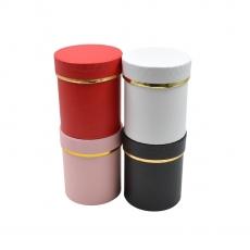 Set 4 cutii cilindrice mici neinscriptionate